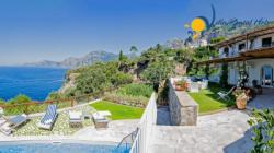 Holiday Villa on Amalfi Coast - 2 Bedrooms - Sleeps 4 - Sea View, Terrace, garden and private pool